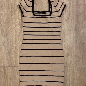 Bebe Square Neck striped dress size Medium
